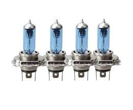 4 Stks/set 55/60 W H4 P43T 12 V Auto Veiligheid Halogeenlamp Koplamp Lamp Auto-styling Super wit <br />  VODOOL