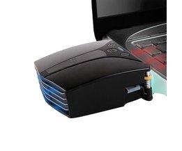 Mini Smart Thermostaat 220 V + DC5V USB Hoge Snelheid Side Uitlaat Laptop Cooler met Screen Snelle Koeling Air Extraheren Radiator <br />  FGHGF