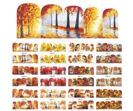 1 Sets 12 Ontwerpen Beauty Fall Thema Nail Art Sticker Decals Nagels Decoraties DIY Tattoos Manicure Gereedschap SABN505-516 <br />  Sara Nail Salon