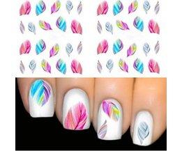1 stks Veer Nail Art Decoraties Water Transfer Decal Nail Stickers Voor Nagels Manicure Stickers Water Regenboog Heldere Kleur <br />  PUTIMI