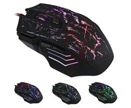 Draagbare 7 Knoppen Kleur Veranderende LED Optische USB Muis Gamer Muizen Gaming Mouse Voor Pro Gamer Laptop Computer Muizen <br />  HXSJ
