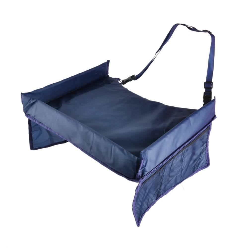 Blauwe waterdichte opslag Tafel Autostoel Kinderen Speelgoed zachte Baby Peuter Autostoel PlayTravel