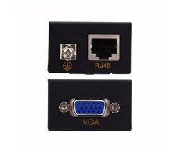 60 M VGA Netwerk Signaal Extender Sender RJ45 CAT5e/6 Zender Ontvanger Adapter <br />  VBESTLIFE