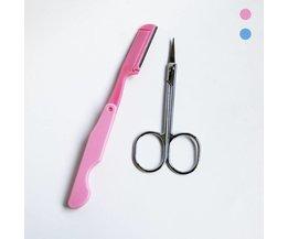 2 stks wenkbrauw scheermes gezichtshaar remover wenkbrauw trimmer sharp make Mes Scheerapparaat Blade Wenkbrauw Schaar Set Haar Remover Tool Z3 <br />  MyXL