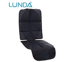 Luxe lederen Autostoel Protector Kind of baby auto seat cover Makkelijk Schoon Seat Protector Veiligheid Anti Slip Universele zwart <br />  LUNDA