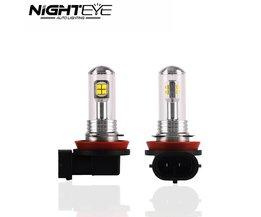 Nighteye H16 80 W Met CREE LED Chips Light Fog Staart Bulb Rijden Lamp Auto Koplamp DRL 6000 K 1500lm Wit<br />  NIGHTEYE AUTO LIGHTING