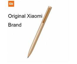 [1 metalen pen + 3 blauw inkt] Originele  mijia metalen pen goud met blauw refill inkt <br />  Xiaomi