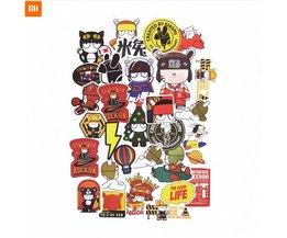 1 set xiaomi mitu stickers creatieve cartoon ontwerp konijn pvc diy decor stickers voor laptop telefoons <br />  FGHGF