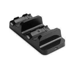 Powstro Dual Opladen Dock Station Charger Stand met 2 Stks Oplaadbare Batterijen Voor Xbox Een S Gamepad Controller  <br />  <br />  powstro