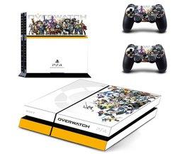 Voor Overwatch PS4 Skin Sticker Decal Vinyl Voor Sony PS4 PlayStation 4 Console en 2 Controller Stickers <br />  Yolouxiku