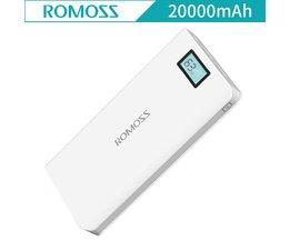 Gevoel 6 Plus 20000 mAh Power bank LCD Draagbare Oplader Externe Batterij PowerBank Snelle Lading Voor iPhone Xiaomi Samsung <br />  ROMOSS