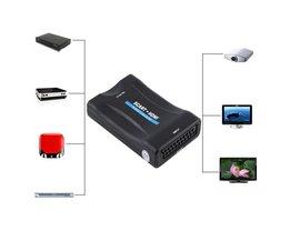 720 P 1080 P Scart naar HDMI Converter Audio Video Converter Scaler Adapter Scart naar HDMI Video Converter <br />  VBESTLIFE