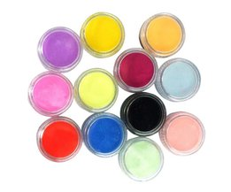 12 Kleuren Acryl Poeder UV Gel Ontwerp 3D Tips Decoratie Manicure Nail Art DIY Set Poeder Nail kit tools <br />  Focallure