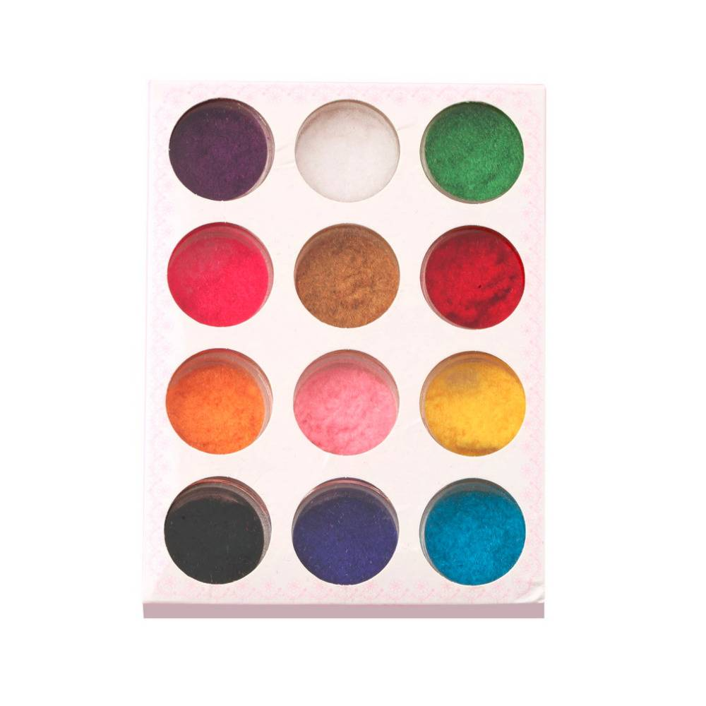 12 Mix Kleuren Acryl Poeder Nail Art Dust Poeder Decoratie Voor Nail