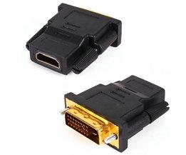 DVI-D (24 1) 25 Pin Man HDMI Vrouwelijke Converter Adapter Coupler Converter wth Retail-pakket<br />  VBESTLIFE