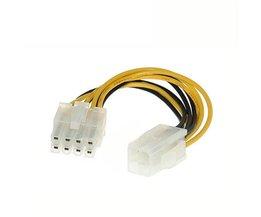 4 Pin Man 8 Pin CPU Voeding Adapter Converter ATX Kabel 12 V  <br />  <br />  centechia