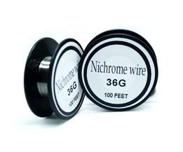 Nichrome draad 36 gauge 100ft 0.1mm cantal weerstand weerstand awg diy verneveling core <br />  Ayunhao