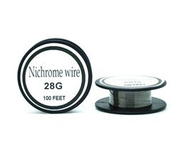 Nichrome draad 28 gauge 100 ft 0.3mm cantal weerstand weerstand awg diy verneveling core <br />  Ayunhao