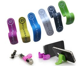10 stks/partij Milieubescherming siliconen magneet telefoon houder Oortelefoon Hoofdtelefoon Winder Kabel Siliconen Koord Houder Voor Iphone <br />  MyXL