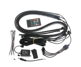 RGB LED Strip Onder Auto Buis Underbody Underglow Glow System Neon Light Remote Auto-styling <br />  YAM