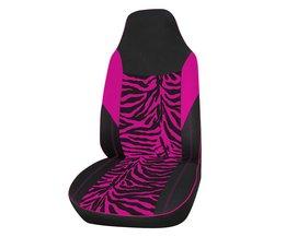 Front Auto Bekleding Universele Fit voor Meest Emmer Seat Zebraprint Auto-Styling Roze Auto Accessoires 1 ST <br />  AUTOYOUTH