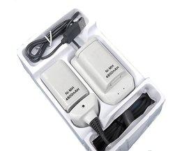 Usb-kabel Batterij Oplader Dock Station voor XBOX 360 Draadloze Game Controller + 2x4800 mAH Oplaadbare Ni Batterij Pack <br />  MyXL