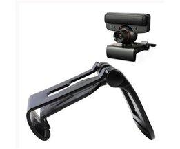 Zwarte TV Clip Mount Houder Stand Voor Sony Playstation 3 voor PS3 Move Eye Camera Groothandel <br />  ShirLin