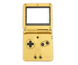 Gloed1 Set Vervanging Golden Volledige Behuizing Shell Case + Screen Cover + Tool Voor Nintendo Voor Gameboy Advance SP Voor GBA SP <br />  ShirLin