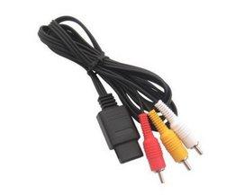 AV Audio/Video Composiet Kabel voor Nintendo N64 SNES Super GameCube TV 6FT <br />  REXLIS