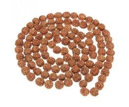 Koop Natuurlijke Rudraksha Japa Mala 108 + 1 Bead Hindoe Gebed Meditatie Boeddhistische voor Meditatie Praktijk Armband