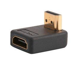90 Graden HDMI Een Man-vrouw Port Adapter Haakse Extension Converter