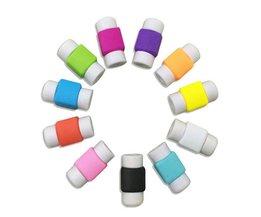 15 stks/partij Mode Telefoon Usb-laadkabel Protector Kleurrijke Kabel Saver Cord Bescherming Voor iphone kabelhaspel