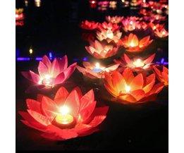 Drijvende lotus kaars
