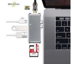 6 in 1 USB C Hub