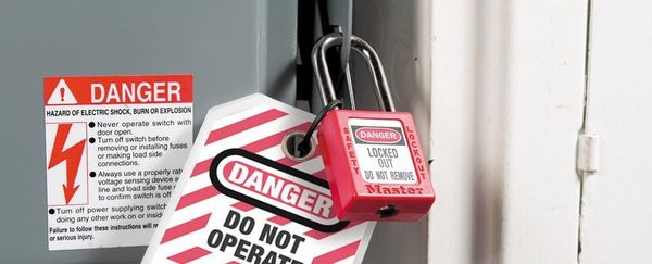 Safety padlock with steel shackle