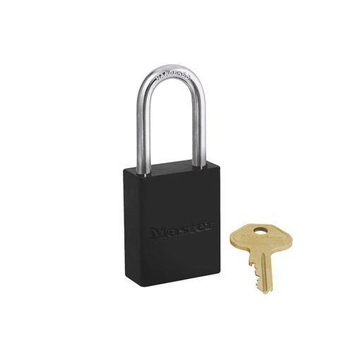 Aluminium safety padlock black S6835LFBLK