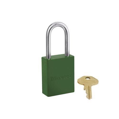 Aluminium safety padlock green S6835LFGRN