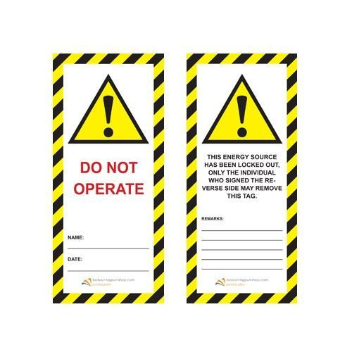 Laminated safety tag UIO-SFTAG