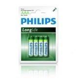 Philips Philips alkaline Longlife batterij 4xAAA