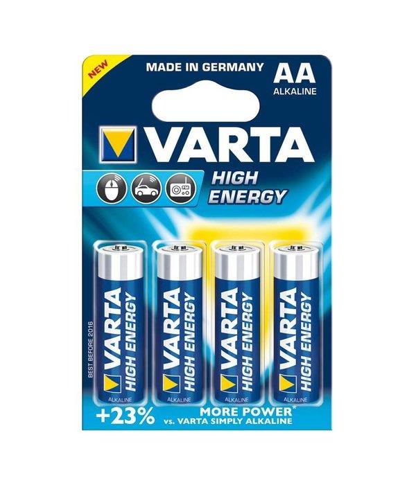 Varta VARTA alkaline high energy AA 4 pack