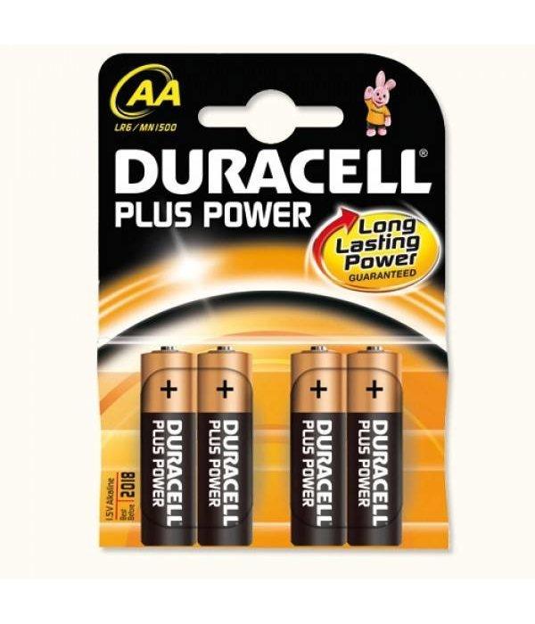 Duracell Duracell alkaline Plus Power penlite 1.5V AA (4 stuks)