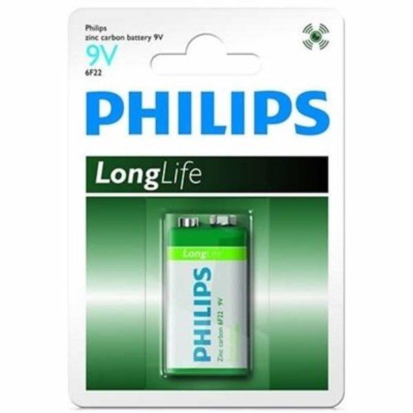 Philips 9V longlife blokbatterij