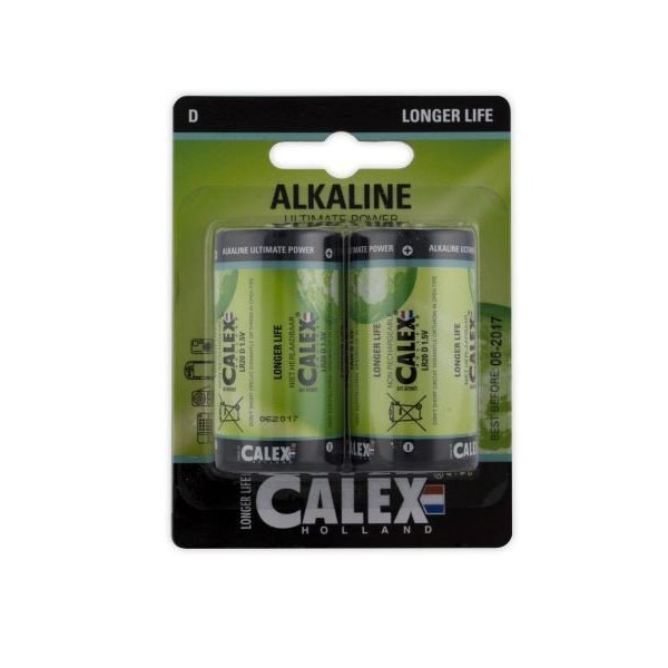 Calex Alkaline D batterij blister