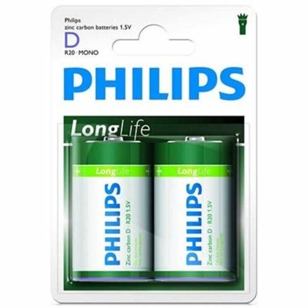 Philips alkaline longlife D 1,5V