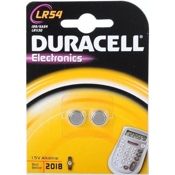 Duracell LR54 1,5V knoopcel (2 stuks)