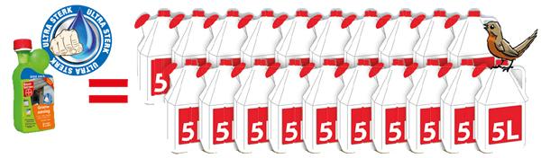 Met een fles Dimanin® Ultra 500 ml kunt u 100 liter kant en klaar maken!