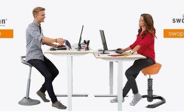 swopper high met een zit-sta bureau