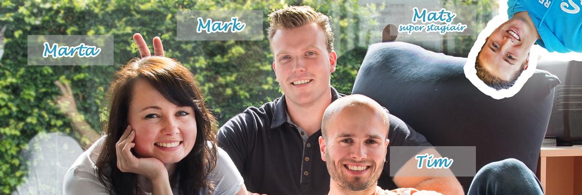 Marta, Mark, Mats en Tim van Ergowerken