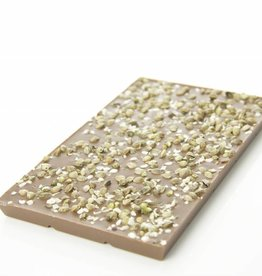 Milk chocolate with hemp seeds