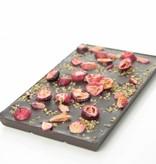 Pure chocolade met cranberry en quinoa